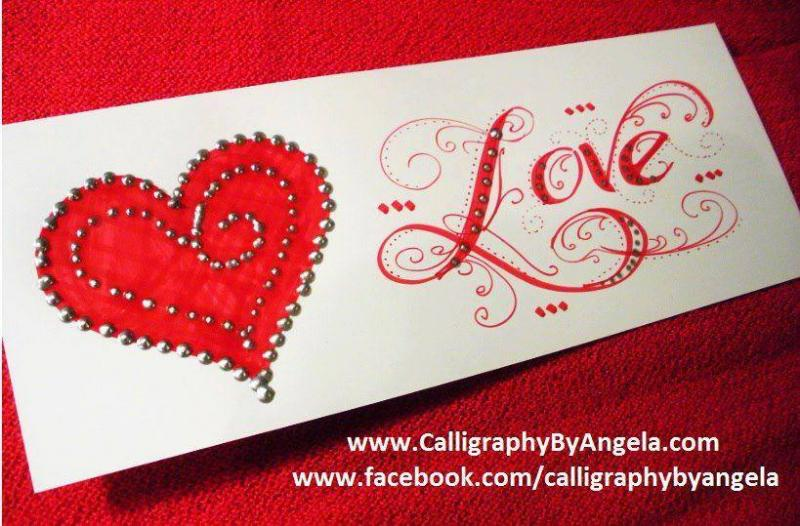 Calligraphy by Angela