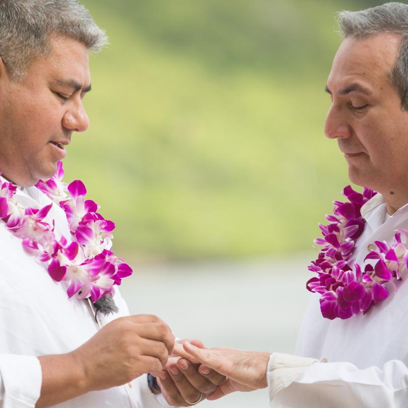Hawaiian Style Gay Weddings