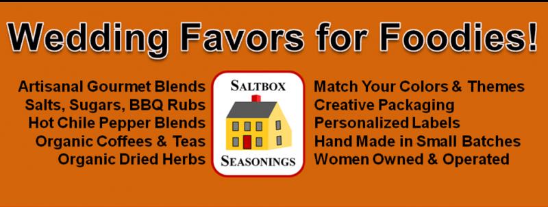Saltbox Seasonings - Wedding Favors for Foodies!