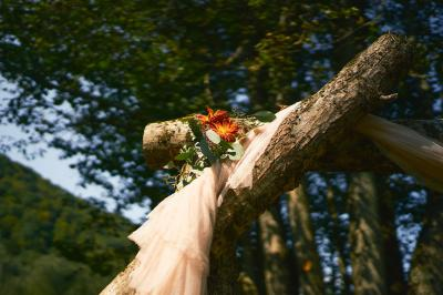 Log Trestle at River Ceremony Site