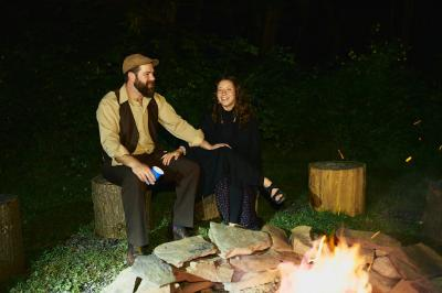 Fire pit at River Ceremony Site