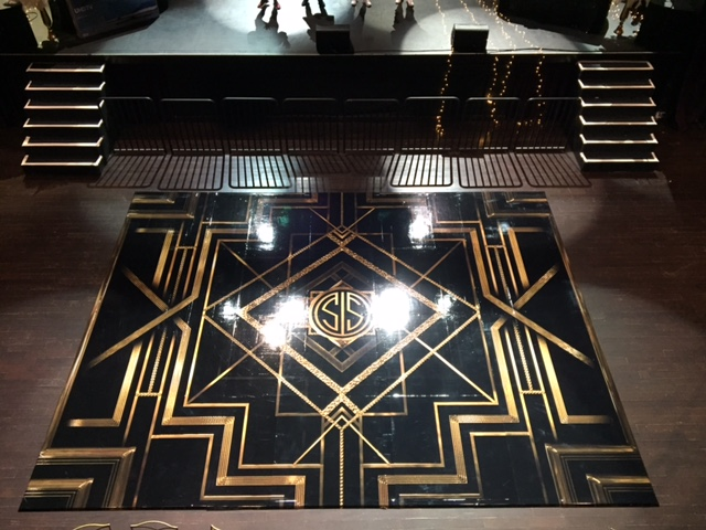 Black and gold seamless dance floor