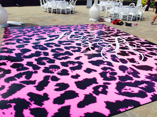 Seamless dance floor with decal