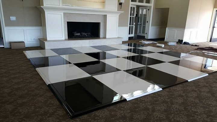 Seamless black and white dance floor