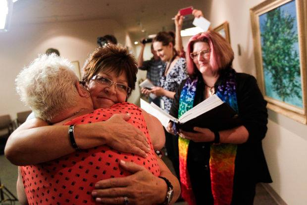 The Supreme Court rules that same-sex marriage is legal, including in Utah, Oct. 6, 2014.