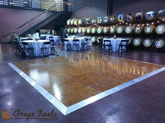 Our 3,750 sq. foot winery main floor is large enough for your guests, food, bar, DJ or band, and a dance floor!