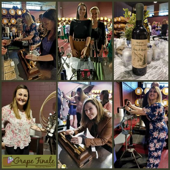 Wine bottling is a fun activity for event guests.