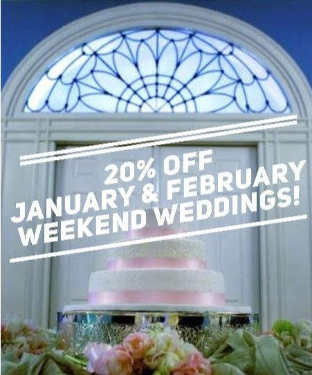 20% Winter Wedding Discount